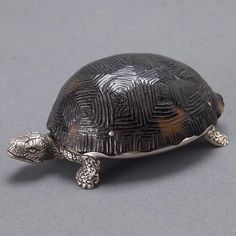 Victorian Tortoise Shell Sterling Snuff Box