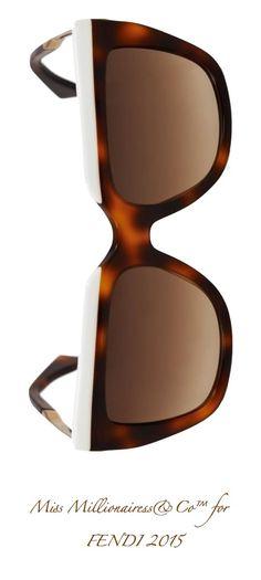 Fendi 2015 Squared-Framed Tortoiseshell Sunglasses - Miss Millionairess's Boutique™ Ray Ban Sunglasses Sale, Stylish Sunglasses, Sunglasses Outlet, Sunglasses Women, Sunglasses 2016, 2015 Fashion Trends, Cool Glasses, Four Eyes, Tortoise Shell Sunglasses