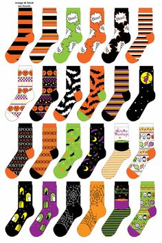 "reference the ""BOO"" sock / the pumpkin check (SIMPLIFY/ ENLARGE design) / candy-skulls-vamp sock SIMPLFIY)"