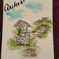 Trying out different papers. I usually use #cansonwatercolor and #archespaper , trying out #bristolpaper ...not sure yet, definately more like canson than arches. #aistamps #aiwatercolor #watercolor #watercolortheartimpressionsway #artimpressionsstamps #marvymarkers #nh #springflowers #wishingwell