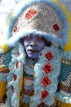 Mardi Gras Indian on Super Sunday 2012 in New Orleans. (Photo from flickr, courtesy of Offbeat Magazine)