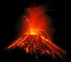 To see a vulcano with lava in Hawai