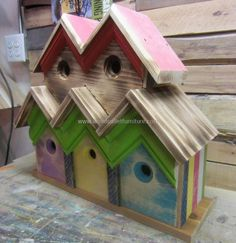 wood pallets birdhouse 9