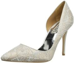 Amazon.com: Badgley Mischka Women's Haylee D'Orsay Pump,White,9.5 M US: Shoes