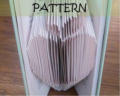 Book folding Pattern: APPLE design (including instructions) – DIY gift – Papercraft Tutorial