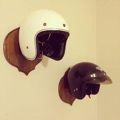 Motorcycle Helmet Wall Mount by BrandCoIndustries on Etsy, $65.00