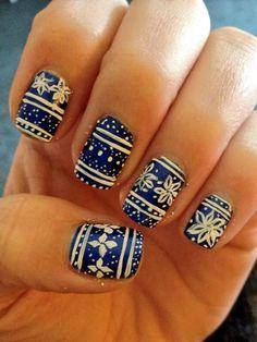 Nail print this is winter nails desing