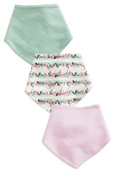 Buy Pink Floral Dribble Bibs Three Pack from the Next UK online shop