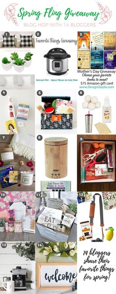 Spring Fling GIVEAWAY!! Enter to win up to 14 fab prizes, ends 5/13/17.