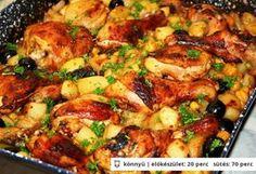 Tepsis csirkecomb zöldségekkel   NOSALTY – receptek képekkel
