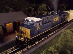 Now arriving MTH RailKing O Gauge CSX ES44AC Diesel Engine item 30-20211-1. This CSX ES44AC comes with Proto-Sound 3.0, operates on O-31 Curves and has a MSRP of $329.95. Ask your MTH Dealer about getting one today. For more details about this item here is a link to the MTH Website. http://mthtrains.com/content/30-20211-1