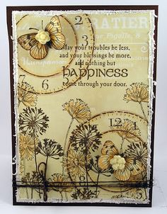 Suzz's Stamping Spot: Dreams and Flowers Card Making Inspiration, Making Ideas, Card Creator, Beautiful Handmade Cards, Butterfly Cards, Artist Trading Cards, Card Maker, Card Tags, Creative Cards