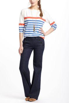 outfits, fashion, trousers, cloth, anthropologiecom super, citrus boatneck, closet, valencia, stripes