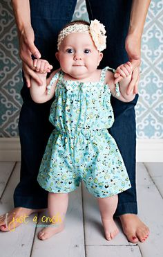 Romper Pattern, PDF Sewing Pattern, Girls Romper Sewing Patterns, Easy Cute Pattern 3m-5t Bailey Romper via Etsy