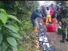 Guerrilla obliga a derramar petróleo de otras tres tractomulas en Putumayo | 20140723