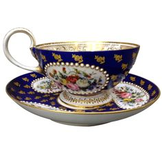 1stdibs.com   Fantastic Oversized Sevres Cabinet Cup and Saucer c. 1870 Beatifully Painted