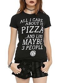 HOTTOPIC.COM - Care About Pizza And 3 People Girls T-Shirt