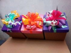 Ideas Sorpresa, Gift Bags, Boxes, Gift Wrapping, Gifts, Creative Gift Wrapping, Decorated Boxes, Sachets, Vintage Clothing