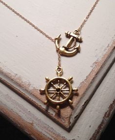 kimmy.....anchor and steering wheel necklace