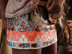 Aztec sequin skirt.