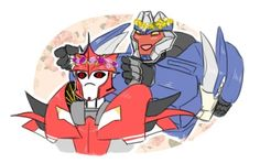 Transformers Prime - Breakdown & Knock Out's Flower Crowns. #TransformersPrime #TFP #TV_Show. OTP!