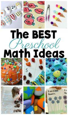 55+ of the Best Preschool Math Activities #PreschoolActivities #Preschool #PreK #ECE #PreschoolTeachers #PreschoolMath #Math #MathActivities