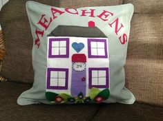 Personalised new home or newly wed couple pillow cushion with name or mum?…