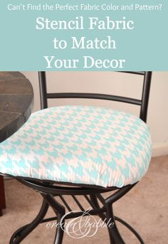 How to Stencil Fabric and Match Your Decor using stencils that you make with your Silhouette! #createandbabble