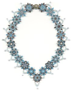 PDF File Tutorial for Snowflake and Icicle Beadwoven Necklace. $12.00, via Etsy.
