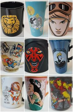 RETIRED DISNEY MUGS - FIND YOUR FAVORITE MOVIE AND OR CHARACTER IN MY EBAY STORE! NEW, USED AND VINTAGE MUGS AVAILABLE. #DISNEY #DISNEYMUGS #COFFEEMUGS