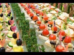 Вкусные канапе, мини бутерброды, на шпажках и красивое оформление праздн...