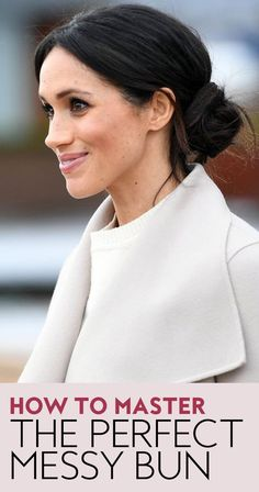 How does Meghan Markle keep her messy bun from falling out? #messybun #easyhairstyles #royals #hairtips