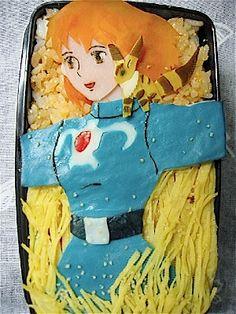 ghibli bento - Nausicaa Valley of the Wind - anime movie Japanese Bento Box, Japanese Food, Kawaii Bento, Kawaii Anime, Studio Ghibli Art, Bento Box Lunch, Edible Art, Cute Food, Food Art