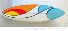 Surfboard simple line art beautiful