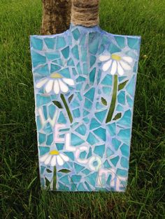Mosaic Shovel #shovel #gardenideas #gardenart
