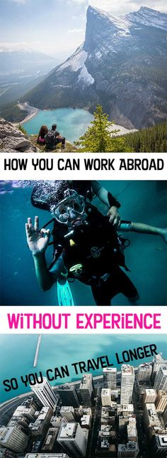 You DON'T need experience to work abroad!