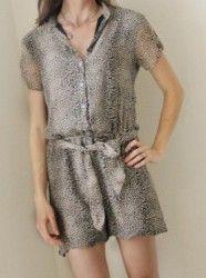 Women's Dress to Romper Refashion Tutorial | AllFreeSewing.com