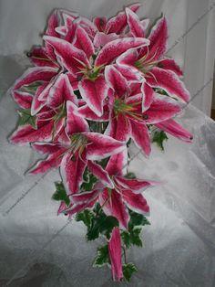 Stargazer Lily Shower Bouquet - Wedding Flowers