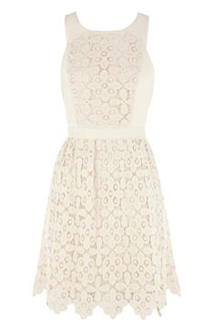 This heavy lace cross back dress is constructed out of a pretty floral lace with a lining. This summer design features sleeveless styling with a cross over back and a full skater style skirt. Team with sandals in the summer for the ultimate feminine look. Read more at http://www.warehouse.co.uk/heavy%20lace%20cross%20back%20dress/dresses/Warehouse/fcp-product/5563091801#1GlUqj8pq2m2cZRd.99