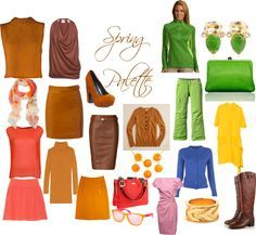 """Spring browns: light, yellow based.....""""Spring Palette"""" by jeaninebyers on Polyvore"""