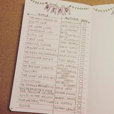 """Starting a bullet journal, and enjoying it so far with my first completed page. #bulletjournal #journaling #bookstoread"""