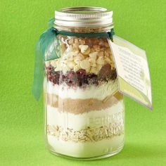Cranberry Cookie Mix in a Jar-great gift idea for the holidays!