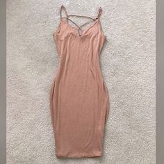 New sexy Tan Dress  New without tag, bought them like that, available in S and L sizes! Very very beautiful , material is stretchy to and is double lined so the skin is not showing through it! NOT ZARA BRAND ! Offers accepted Zara Dresses Midi