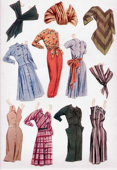 Vintage Whitman 2067 Claire Mccardell Paper Dolls 1956 CUT   eBay