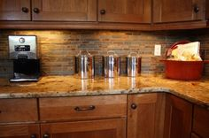 stone kitchen backsplash - Google Search