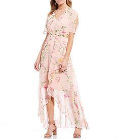 Floral Chiffon, Floral Maxi Dress, Hi Low Dresses, Casual Dresses, Chiffon Dresses, Hi Low Maxi, 1920s Dress, Flapper Dresses, Evening Dresses