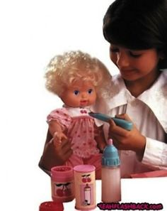 I think these dolls that wet themselves is why I don't like babies.  I learned at a young age lol