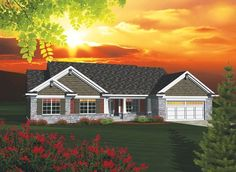 ePlans Ranch House Plan – Beautiful Master Suite with Bay Window– 1928 Square Feet and 3 Bedrooms from ePlans – House Plan Code HWEPL76181