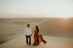 Britt from Bachelor Engagement at the Imperial Sand Dunes, California by trinjensen photography