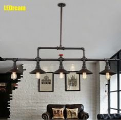 148.00$  Buy now - http://aliamx.worldwells.pw/go.php?t=32424994637 - Conduit creative dining-room lamp, wrought iron lamps and lanterns industry wind restoring droplight loft bar bar droplight 148.00$